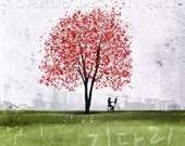 Waiting -- Gi Da Rim in Korean -- 10x10 -- Gallery Wrapped Canvas.Christmas gift