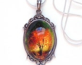 Twilight -- Wearable Art Cameo Necklace.Christmas gift.Mother's Day gift