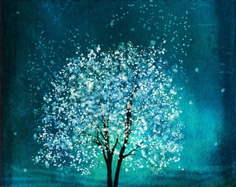 Spirit of Water Tree--mool eh jung lyung su in korean--11x14