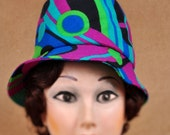 Funky 1960s...70's ladies mod hat Marshal Fields