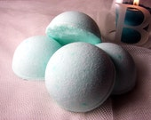 Relaxing blend scented Half Bath Bombs with Sweet Almond Oil, great for shower too