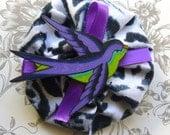 Purple Swallow Hair Clip. Tattoo Swallow Rockabilly Hair Accessories