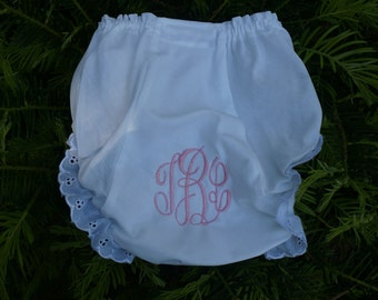 Listing for 1 --Monogrammed Diaper Cover, Personalized with classic script , 3 SIZES
