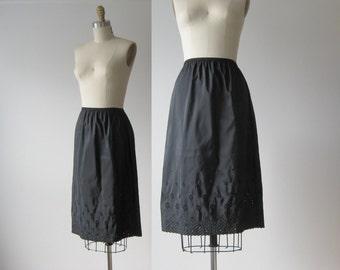 vintage slip / 1950s slip / half slip