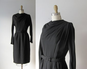 vintage 1940s dress / 40s dress / Femme Fatale