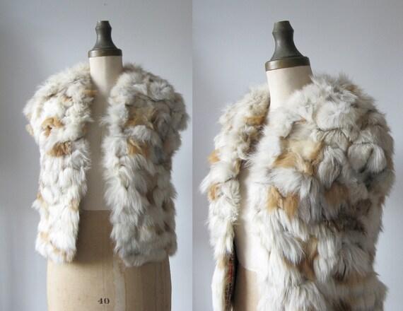 vintage fur vest // Autumn Stroll