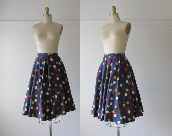 vintage 1950s skirt / 50s skirt / Gumball Party