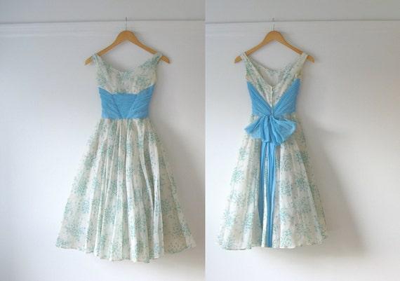 vintage 1950s prom dress / 50s party dress