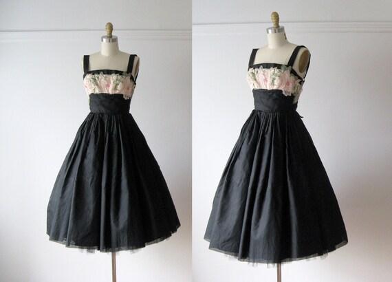 vintage 1950s dress / 50s party dress