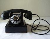 vintage art deco black telephone 1930s 1940s