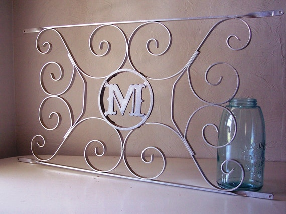 Vintage Aluminum Door Monogram With Scrollwork