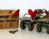 Adjustable Union 55 Roller Skates w Key  -ages 5 and over--shoes 3 and up