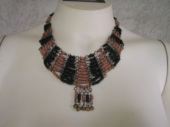 Africian Trade Beaded Collar Necklace