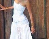 Ishtar Romantic Wraparound Skirt in whites