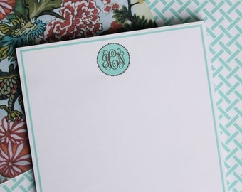 Note Pad Personalized - Monogram in Circle