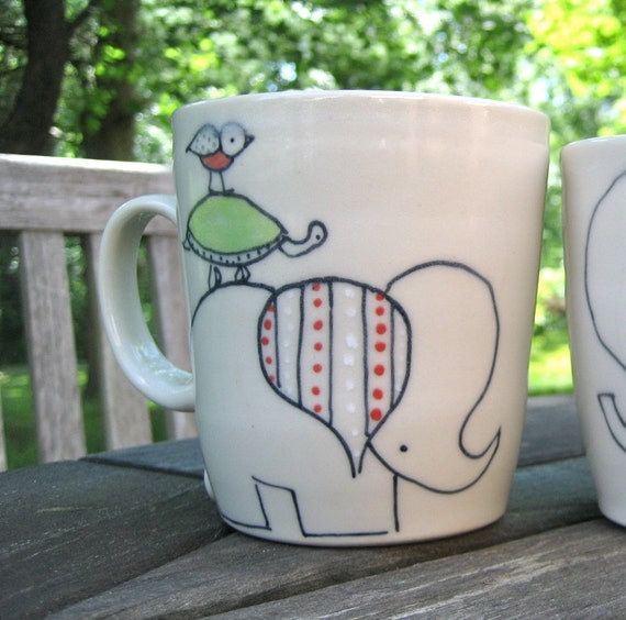 Coffee Mug - Handmade Ceramic Mug- Pile O' Animals - Tea Cup or Coffee Cup
