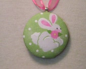 Cottontail Bunny Pendant Necklace