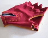 Breezin' Through - Fingerless Leather-Palmed Bike Gloves