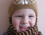 Cute and Warm Handknitted Knacky Squirrel Hat