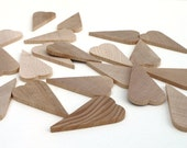 Unfinished Wooden Primitive Rustic Hearts Set of 20 DIY Craft Supplies