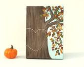 Personalized Autumn Wedding Honey Tree Painting Original Art on 5 x 7 Canvas