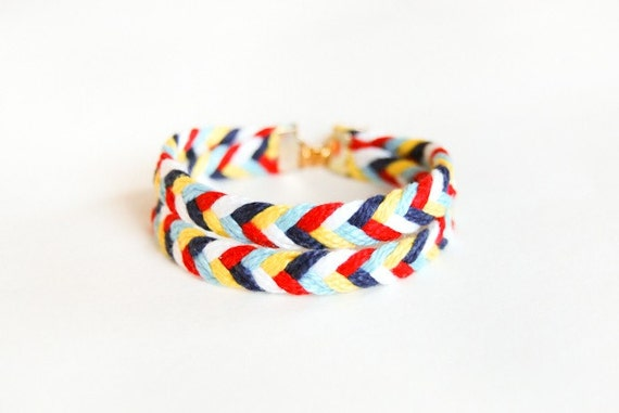 Double Happiness - Double Layered Braided Friendship Bracelet - Made to Order