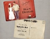 """Vintage Save the Date Postcards / 4x6 / Save the Date / the """"Sara"""""""