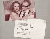 """Save the Date Card, Save the Date Postcard, Vintage Save the Date Card, Vintage Save the Date Postcard - the """"Hazel"""""""