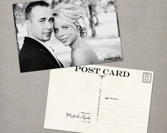 """Wedding Thank You Cards / Thank You Note Cards / Vintage cards / Thank you card / Wedding Postcard Thank You Cards - the """"Sophie"""""""