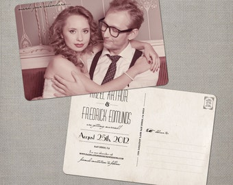 """Photo Save the Date cards, 4x6, Save the Date, the """"Hazel"""""""