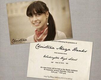 "Graduation Announcement / Senior Graduation Announcement / Graduation Invitation / College Graduation / Party Invitation - the ""Christina"""