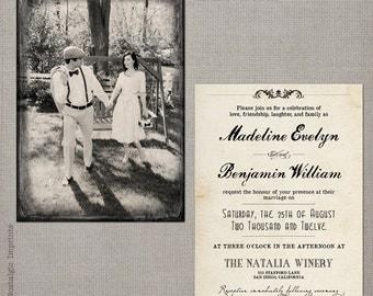 "Wedding Invitation - the ""Madeline 1"""