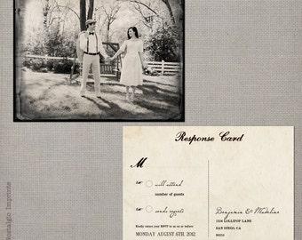 """Rsvp postcard / Rsvp postcards / Rustic wedding rsvp / Wedding rsvp card / Rsvp / Response card / Reply cards / Rsvp card - the """"Madeline 1"""""""