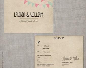 "Vintage Wedding RSVP - the ""Lavinia"""