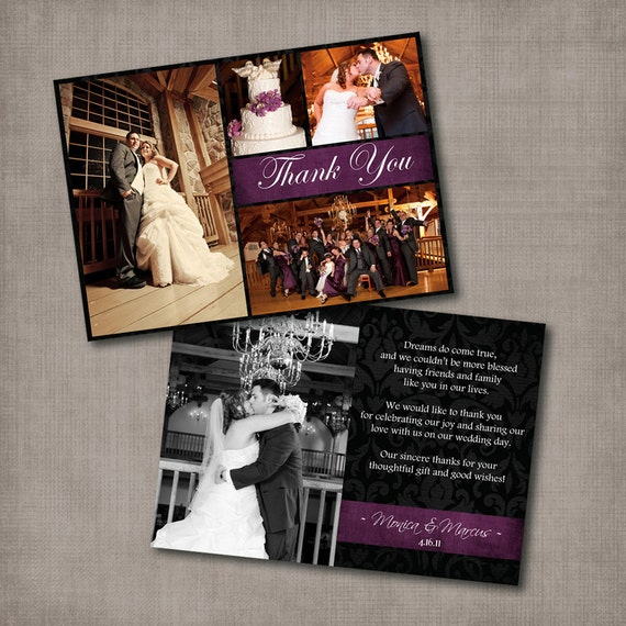 reserved for tamikaowens - Monica - Wedding Thank You Card