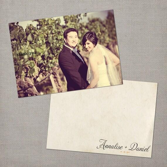 Vintage Wedding Thank You Cards / Wedding thank yous / Wedding Thank You Cards / Thank you Cards / Antique thank you card - Annalise