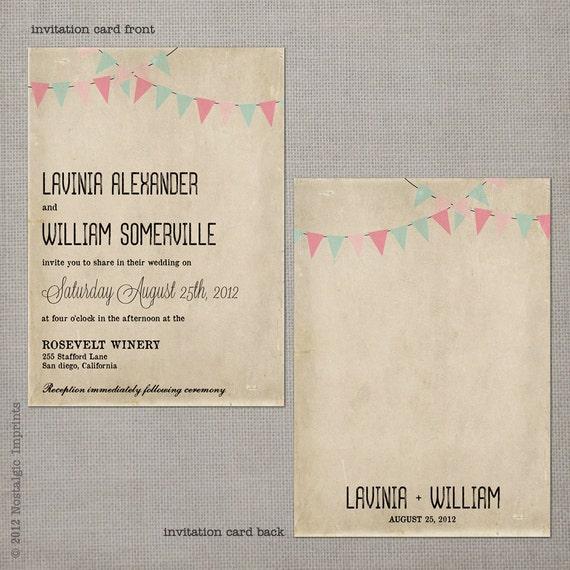 """Wedding guest invitations / Vintage wedding invitation / Wedding Invitation / Wedding Invites / Wedding invitation ideas - the """"Lavinia 2"""""""