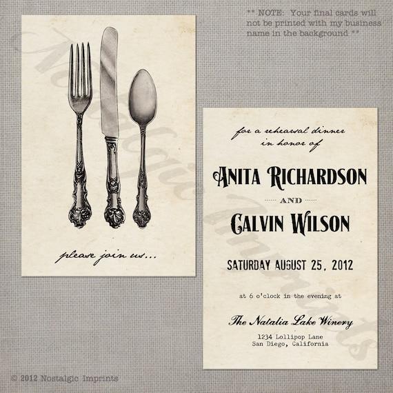Wedding Rehearsal Dinner Invitation Vintage - Celebrate