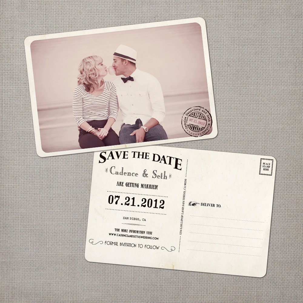 Save The Date Ideas / Vintage Printable Save By