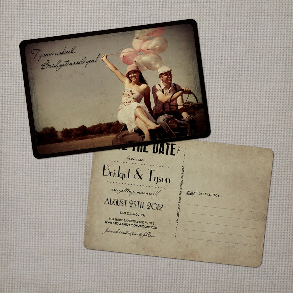 Postcard Save The Dates 4x6 Save The Dates The