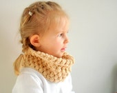 Girl Neckwarmer, Childs Scarf, Organic Cotton Cowl, Eco Friendly Birthday present. Size 1 Gift under 35