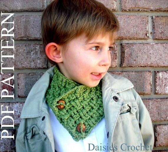 Crochet Pattern Pdf Girl Boy Teen Adult Unisex Cowl Neck