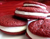Southern Red Velvet Cake - Sandwich Cookies,   crumbles cookie factory