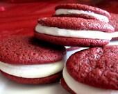 Southern Red Velvet Cake - Sandwich Cookies 1/2 Dozen