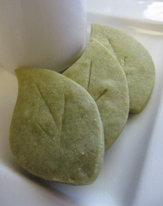 Items similar to Green Tea Leaves- Shortbread Cookies on Etsy