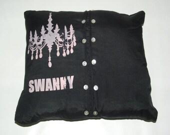 SALE Swanky Silk Pillow