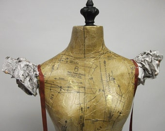 Full Sized Winged Angel Dress Form Display Mannequin on Iron Stand