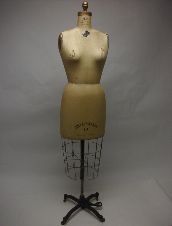 Vintage Rolling Cage Dress Form Model 1961 by dinwiddieshome