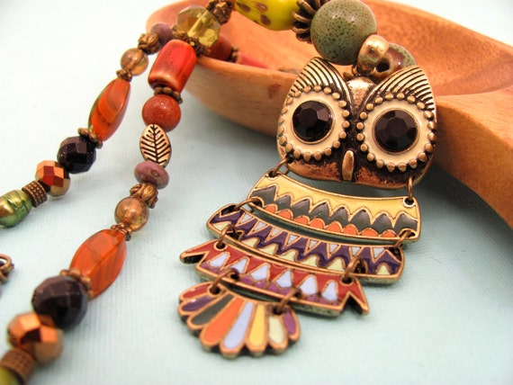 Owl Necklace Mr. FuNky Multi-Colored Necklace MF3