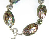 Spectacular Paua Shell and Pearl Bracelet